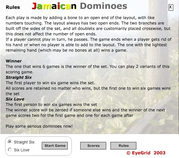 Play Jamaican Dominoes