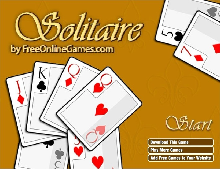 Play Solitaire Oldschool Game Full Screen