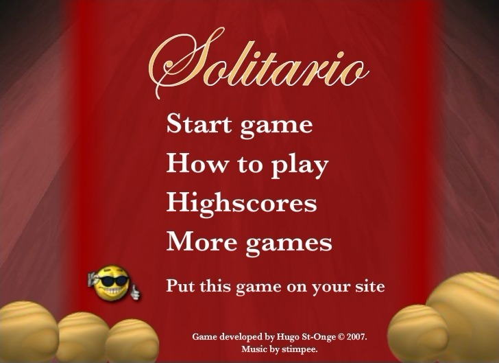Play Solitario Game Full Screen