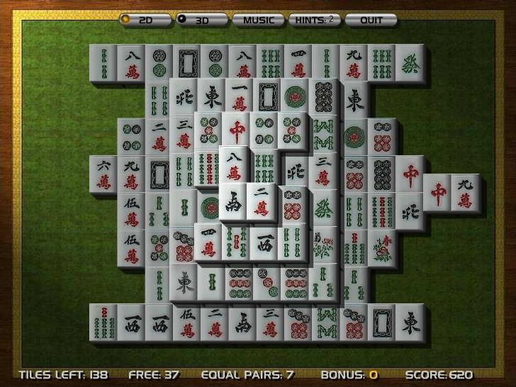 3D Mahjong Full Screen