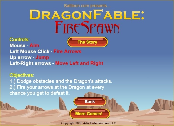 Play Dragon Fable: Fire Spawn