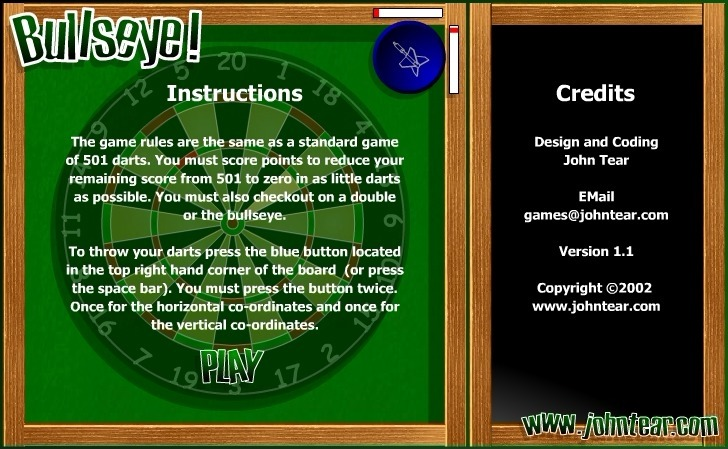 Play Bullseye Game Full Screen
