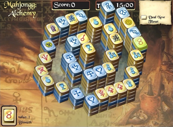 Play Mahjongg Alchemy Game Full Screen