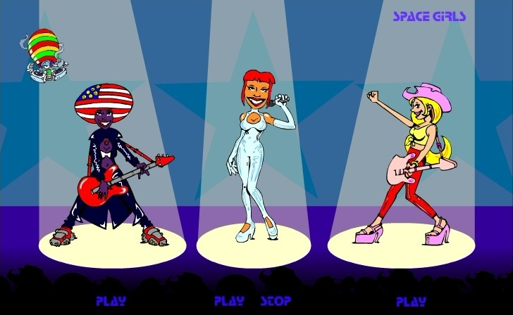 Space Girls Band Game