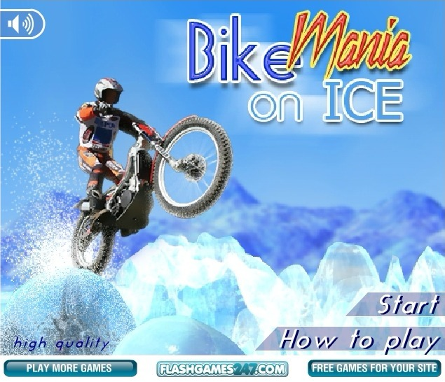 Play Bike Mania On Ice Game Full Screen