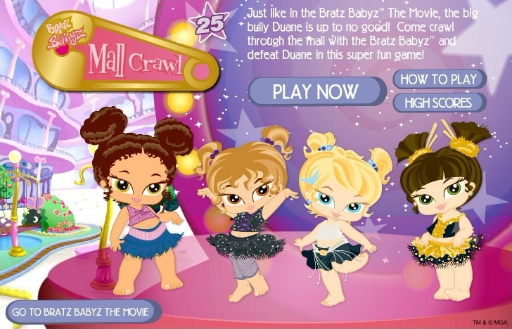 Play Bratz Babyz: Mall Crawl Game Full Screen