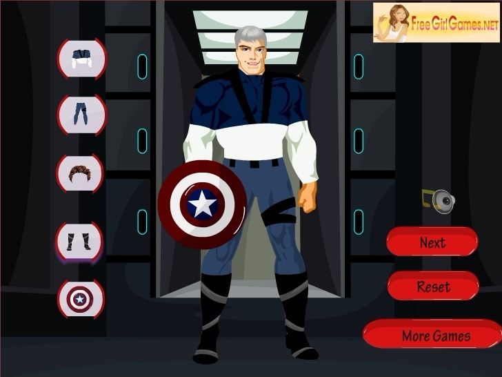 Captain Marvel Dress Up Game