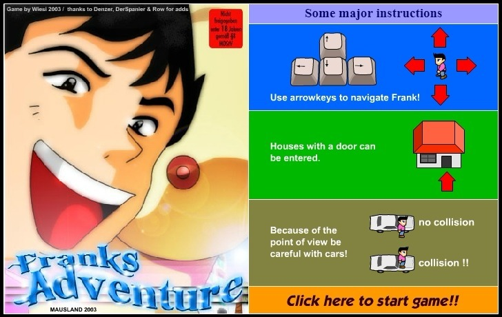 Play Franks Adventure Game Full Screen
