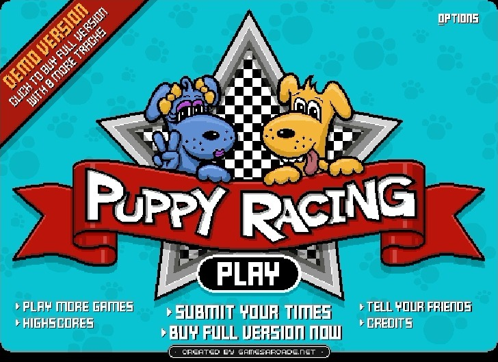 Play Puppy Racers Game Full Screen
