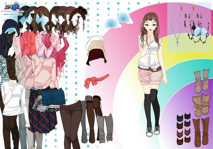 Rainbow Dressup 3 Game