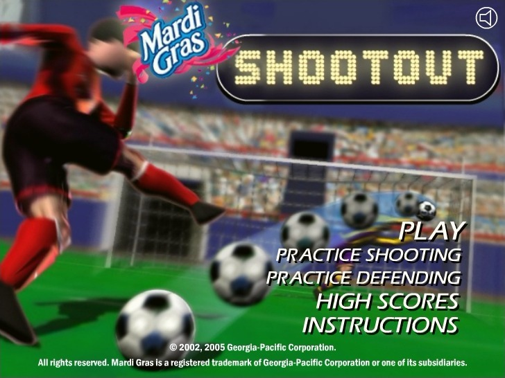 Play Soccer Shootout Game Full Screen