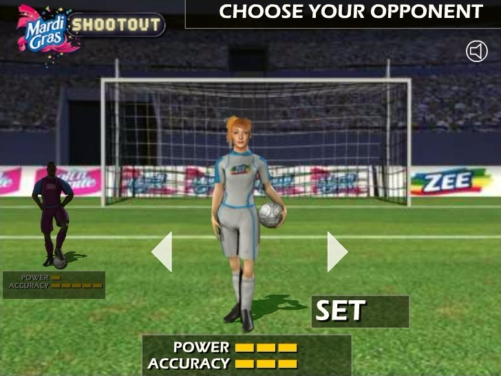 Soccer Shootout Full Screen