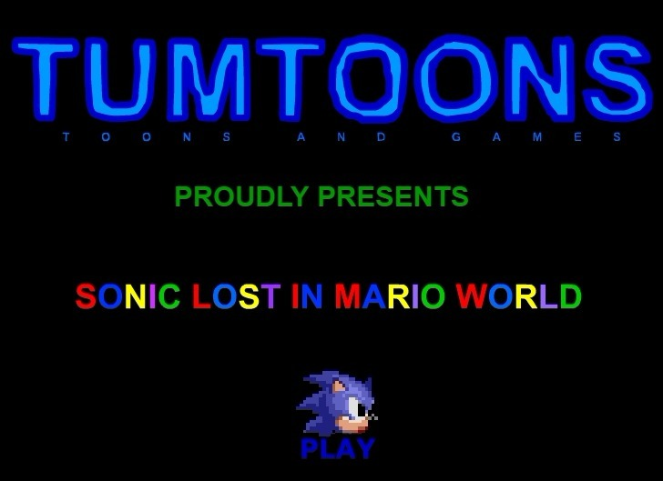 Play Sonic Lost In Mario World Game Full Screen