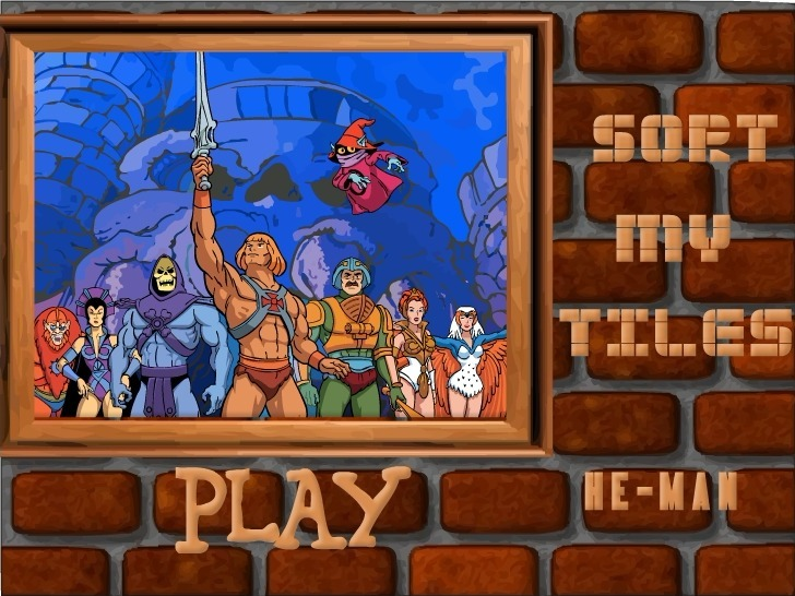 Play Sort My Tiles He-Man Game Full Screen