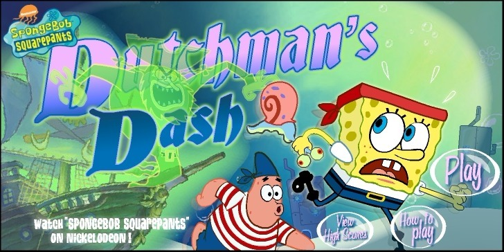 Play SpongeBob SquarePants: Dutchman's Dash Game Full Screen