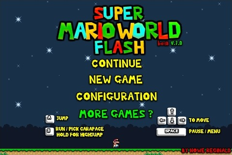 Play Super Mario World Flash Game Full Screen
