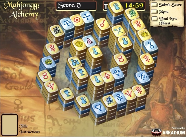 Play Mahjong Alchemy Game Full Screen