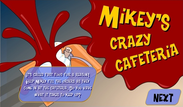 Play Mikey's Crazy Cafeteria Game Full Screen
