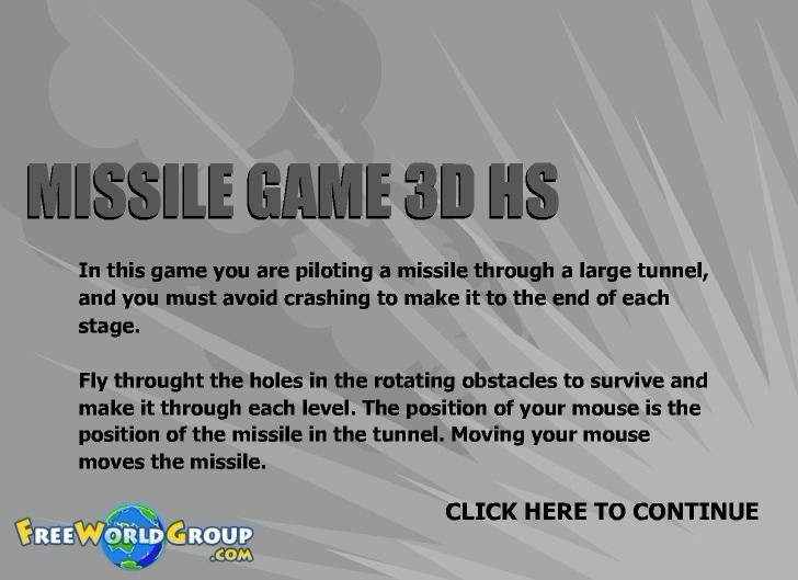 Play Missile Game 3D HS