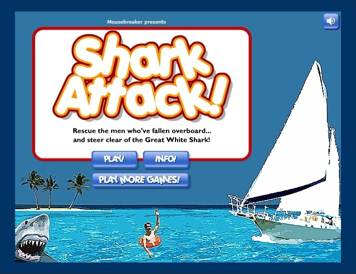 Play Shark Attack Game Full Screen