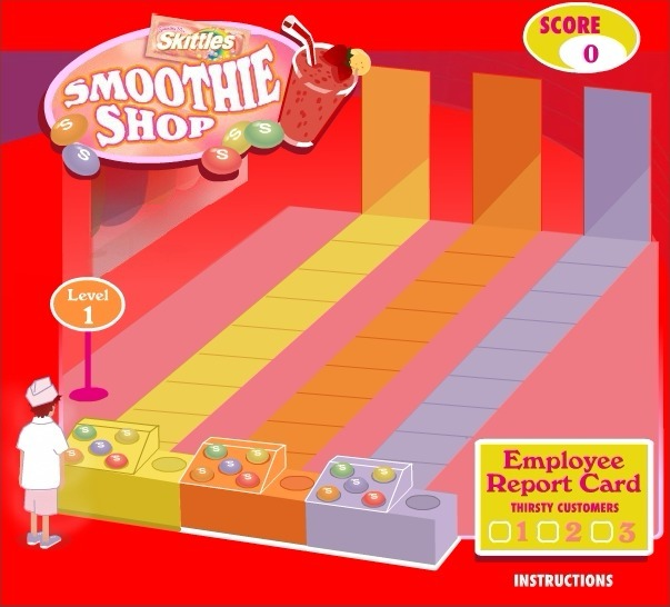 Skittles: Smoothie Shop Game