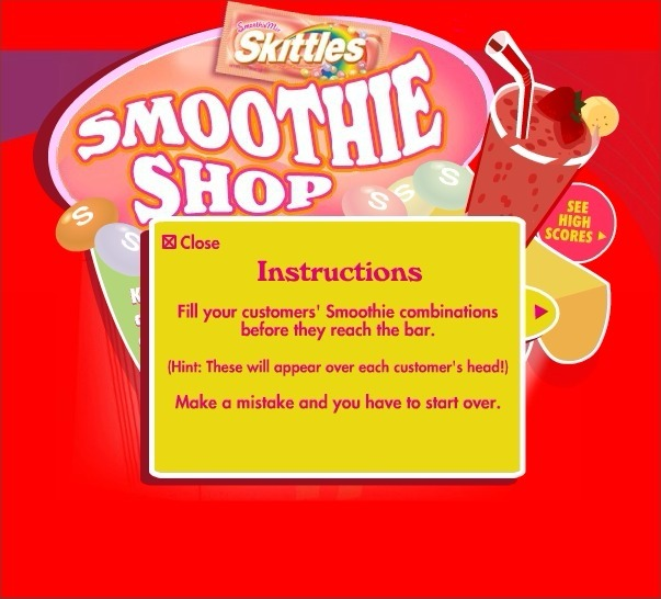 Play Skittles: Smoothie Shop