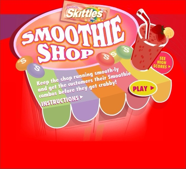 Play Skittles: Smoothie Shop Game Full Screen