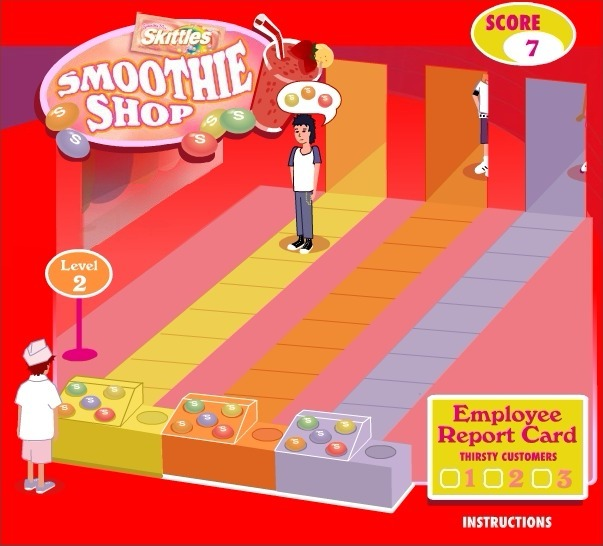 Skittles: Smoothie Shop Full Screen