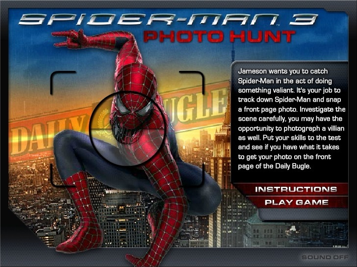 Play SpiderMan 3 Photo Hunt Game Full Screen