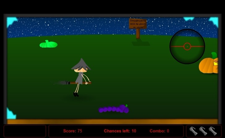 Play The Halloweed Shooter Game Full Screen