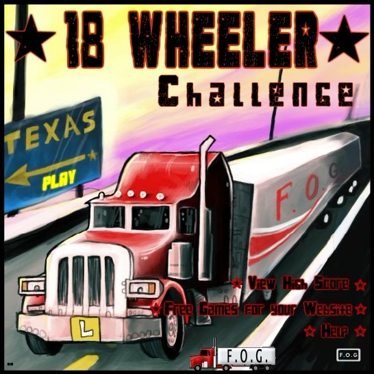 Play 18 Wheeler Challenge Game Full Screen