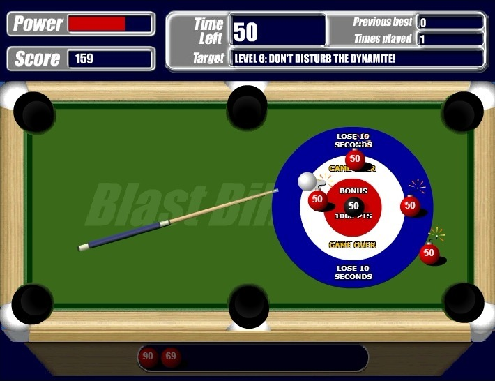Blast Billiards Full Screen
