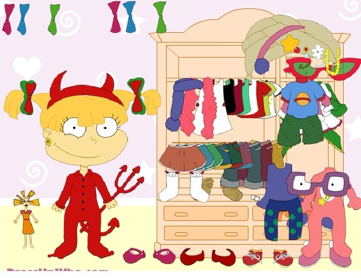 Dress up Angelica from Rugrats