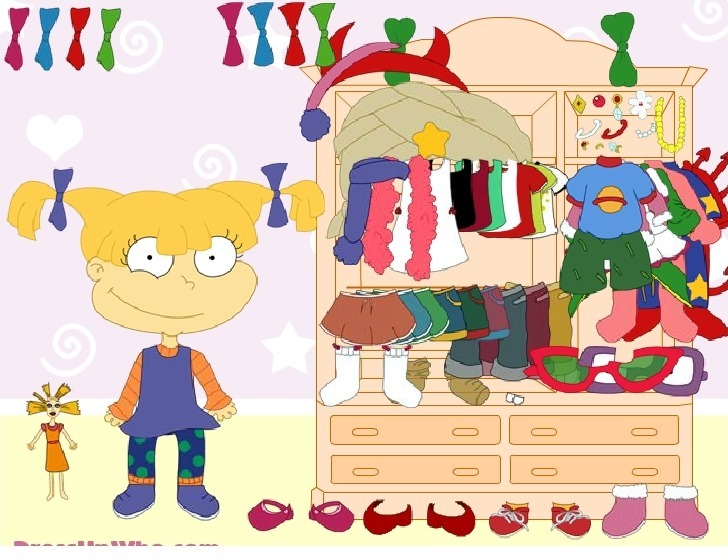 Play Dress up Angelica from Rugrats Game Full Screen