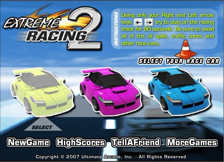 Play Extreme Racing 2 Game Full Screen