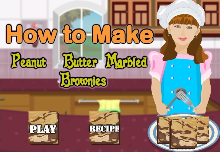 Play How to Make Peanut Butter Brownies Game Full Screen