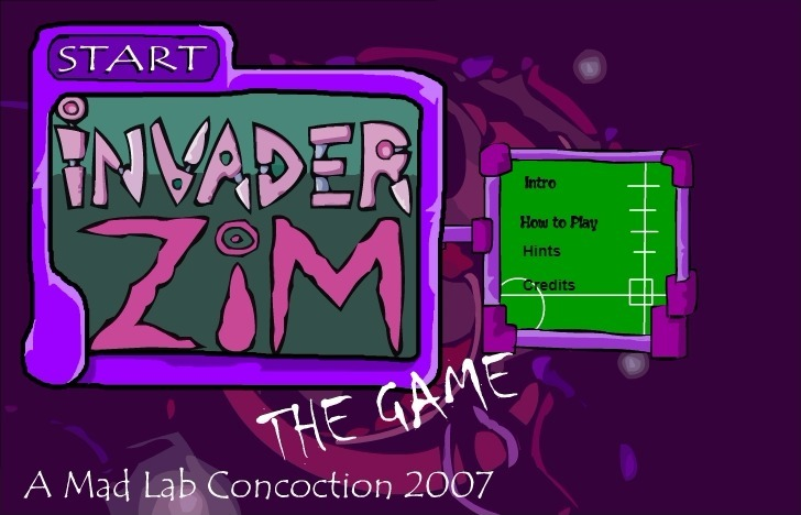 Play Invader Zim Game Full Screen