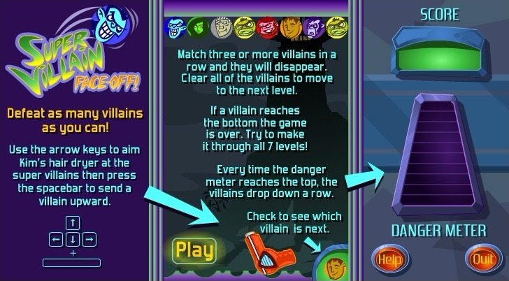 Play Kim Possible: Super Villain Face-Off