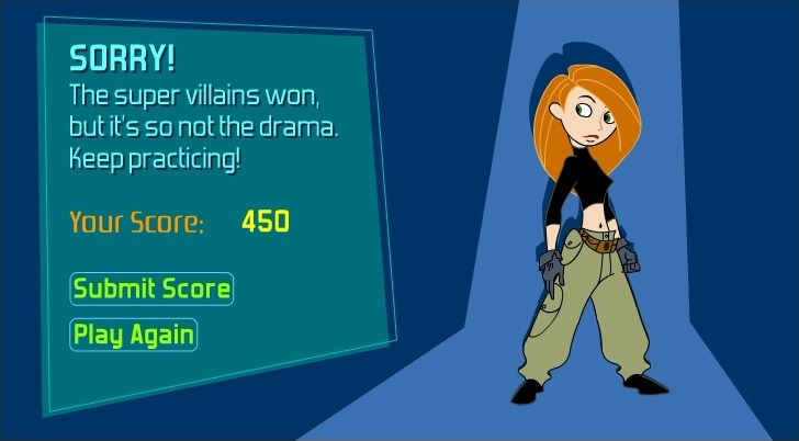 Kim Possible: Super Villain Face-Off Full Screen