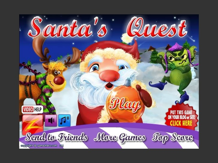 Play Santa's Quest Game Full Screen