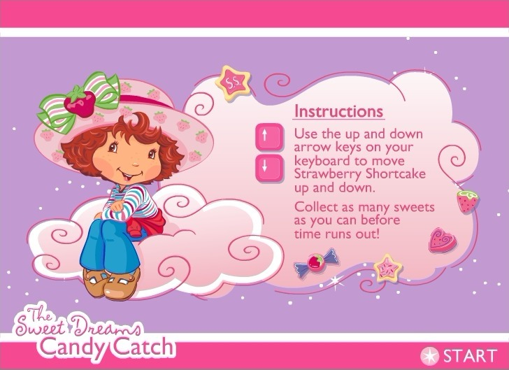 Play Strawberry Shortcake: The Sweet Dreams Candy Catch