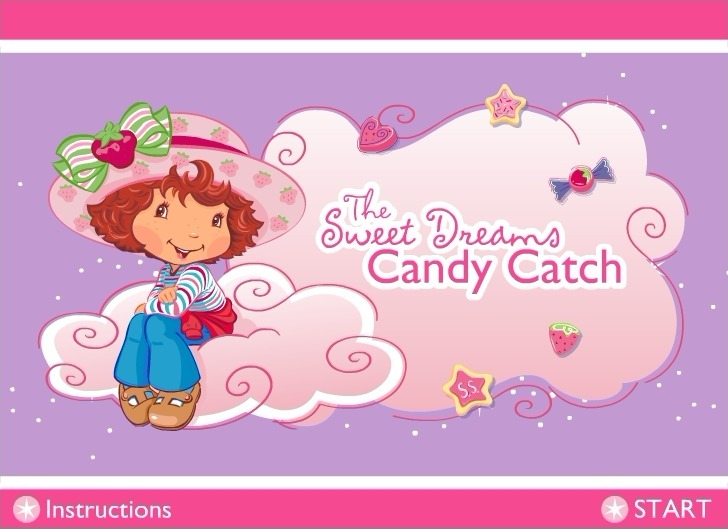 Play Strawberry Shortcake: The Sweet Dreams Candy Catch Game Full Screen