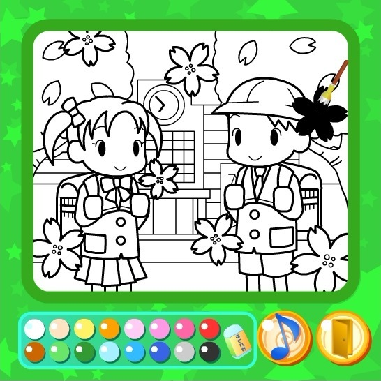 Play Way to School Coloring Book