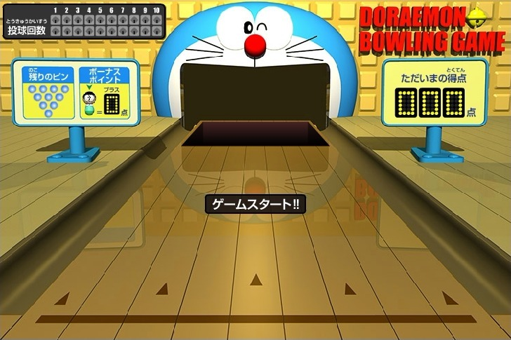 Play Doraemon Bowling Game Full Screen