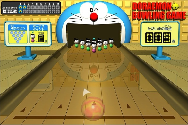 Doraemon Bowling Full Screen