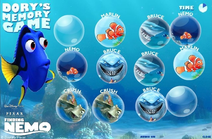 Finding Nemo (Memory) Game