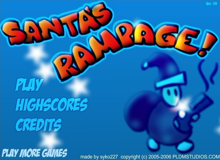 Play Santa's Rampage Game Full Screen