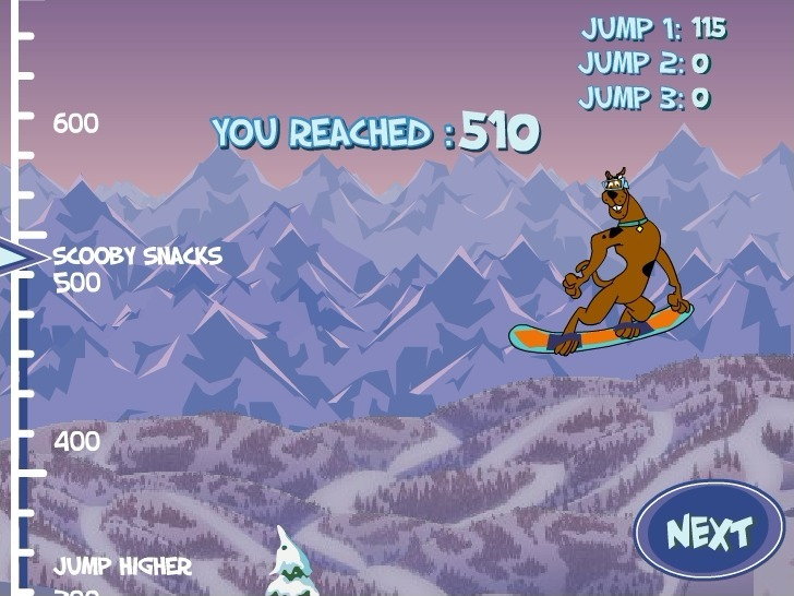 Scooby Doo: Big Air Snow Show Full Screen