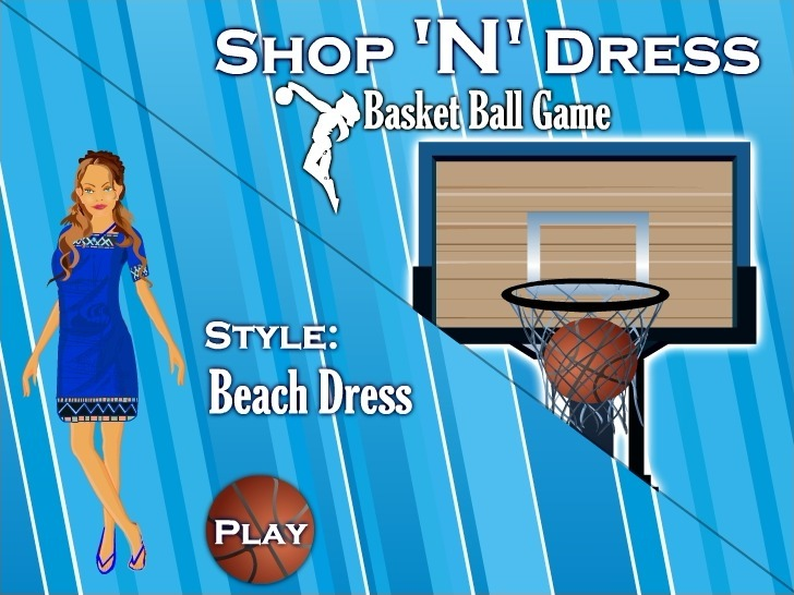 Play Shop N Dress Basket Ball Game: Beach Dress Game Full Screen