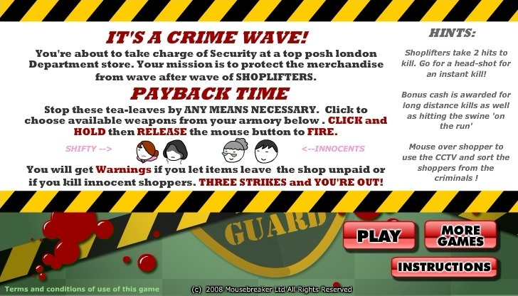 Play Shoplifter Defence